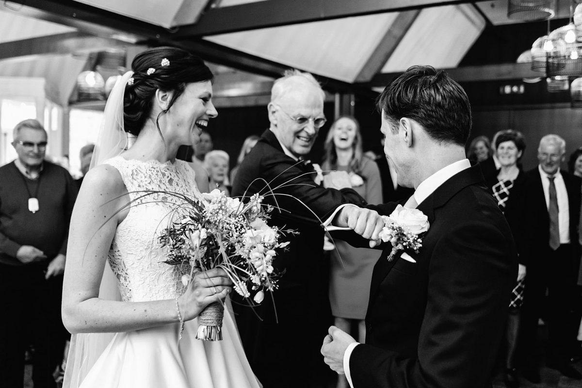 Trouwfotograaf Leiden - De bruiloft in Leiden van Mirjam & Bas