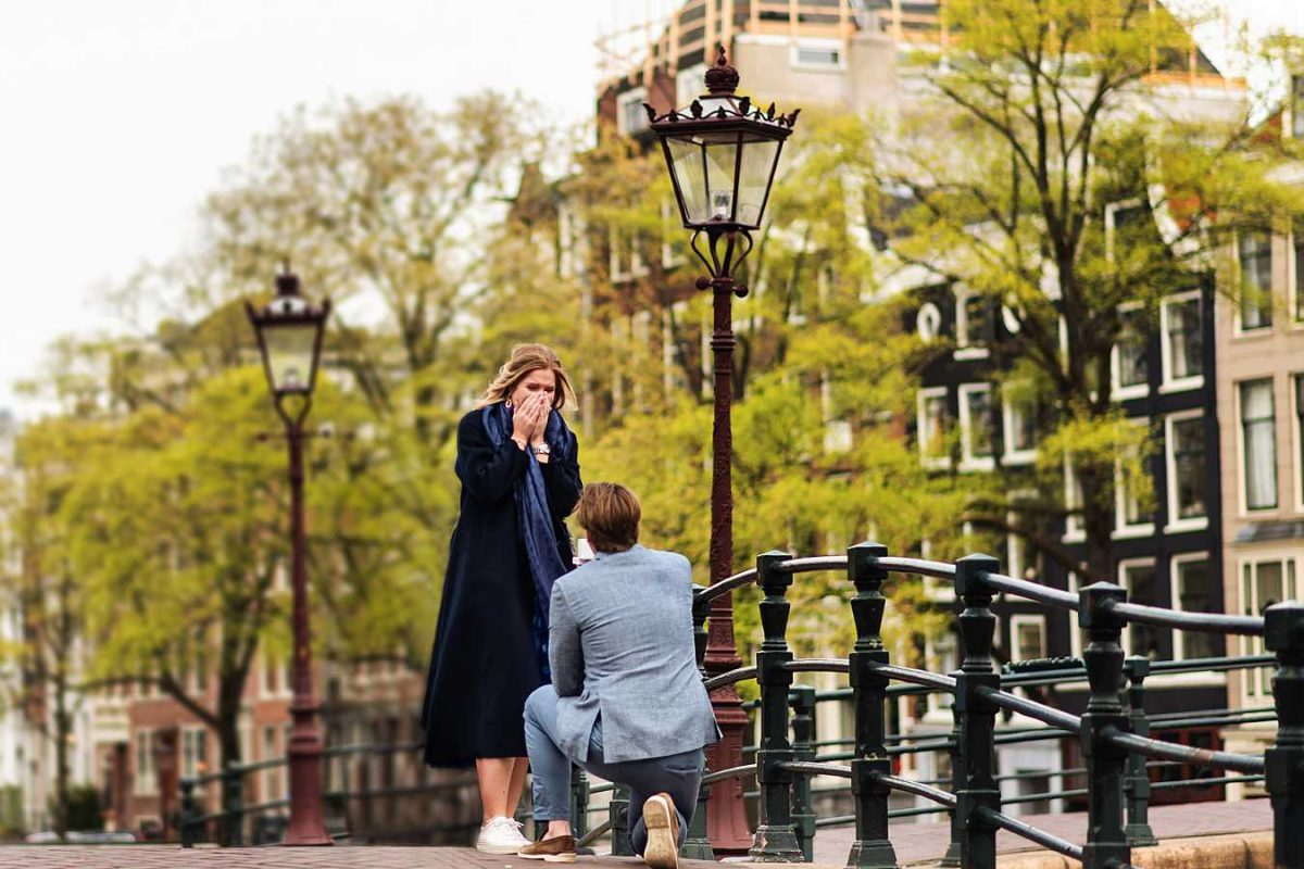 Engagement Amsterdam - Olivier's secret proposal