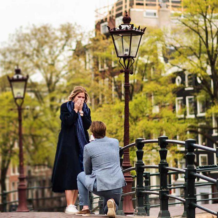 Verlovingsshoot Amsterdam - Het verrassingsaanzoek van Olivier